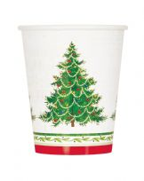 Classic Christmas Tree Paper Cups (8)